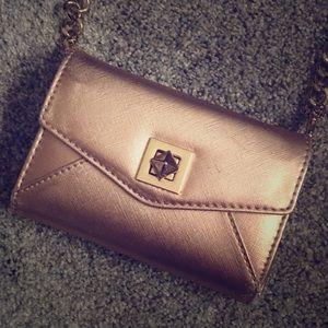 Rose gold wallet crossbody